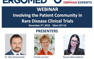 Join FREE Webinar: Involving the Patient Community in Rare Disease Clinical Trials